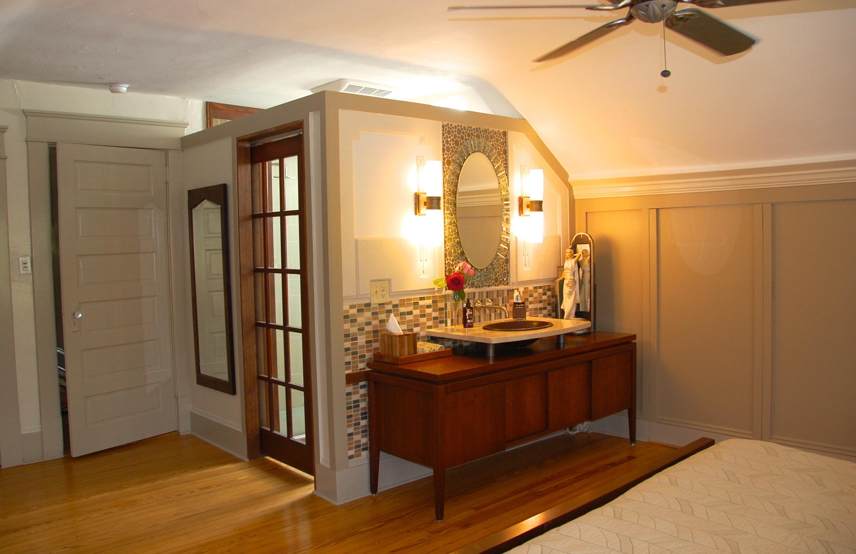 Vanity Outside Bathroom portfolio | four over one design